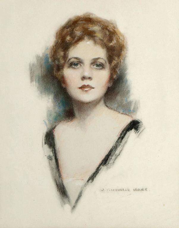 Ziegfeld Follies Beauty Barbara Dean Portrait - Art by John Knowles Hare