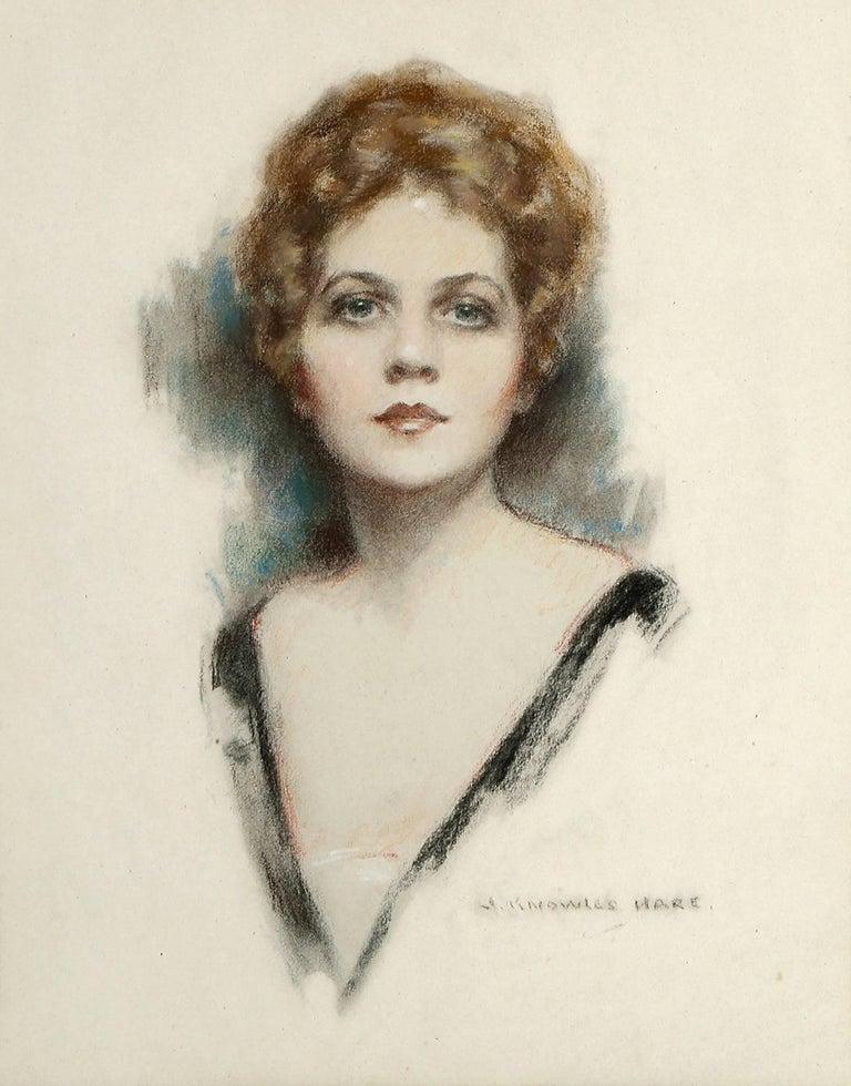 Ziegfeld Follies Beauty Barbara Dean Portrait - Art by John Knowles Hare