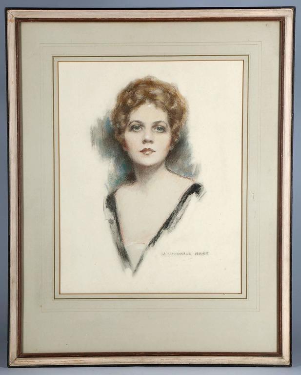 Ziegfeld Follies Beauty Barbara Dean Portrait - Art Deco Art by John Knowles Hare
