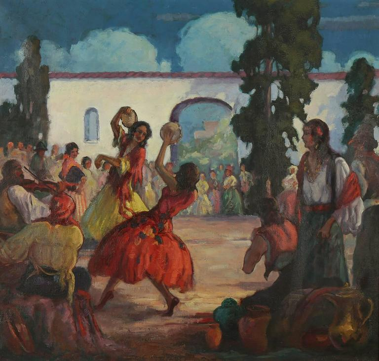 Andrew Dobos - The Tambourine Dance, Painting at 1stdibs