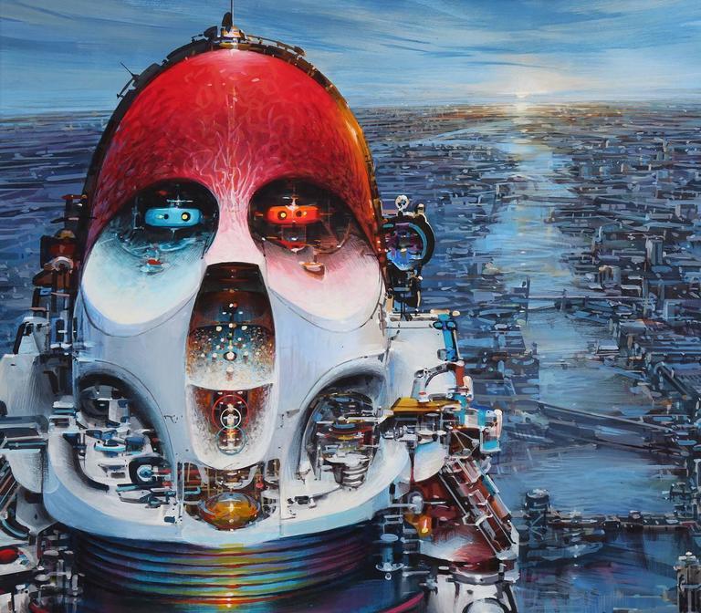 Immortality Option - American Realist Painting by John Berkey
