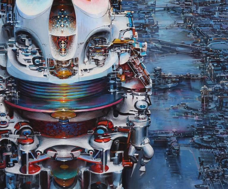 Immortality Option - Blue Landscape Painting by John Berkey
