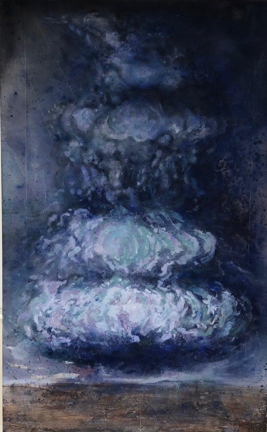 """""""Storm - from the Disaster Series"""" Climate explored with blue and royal cloud"""