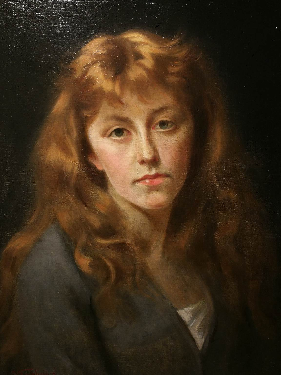 Michele Gordigiani, Portrait of a lady, late 19 century, oil on canvas, signed