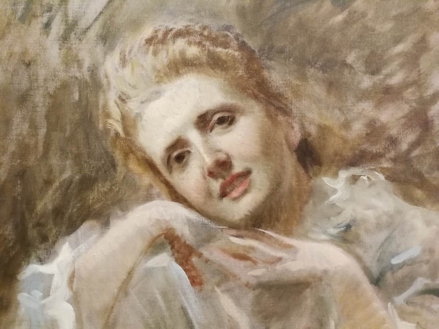 Michele Gordigiani, Portrait, 1878, oil on canvas, signed and dated