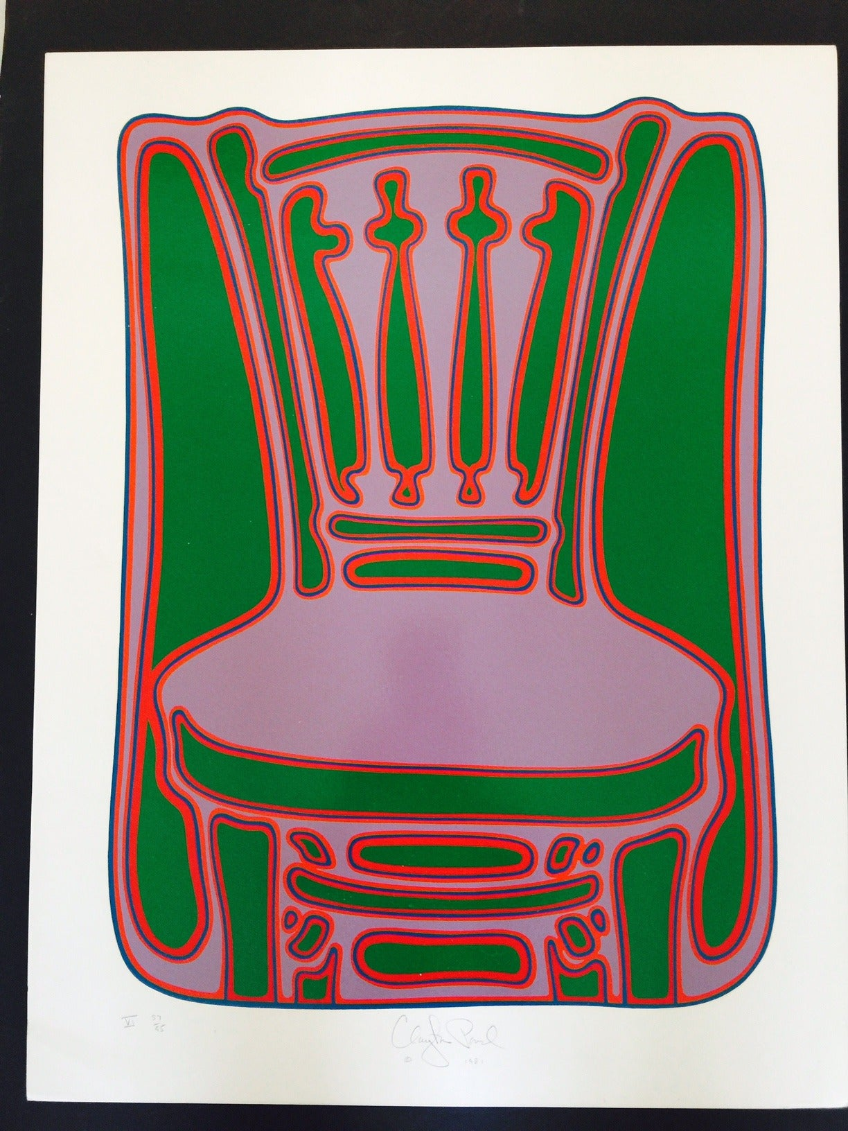 Clayton Pond Chair V Print For Sale At 1stdibs
