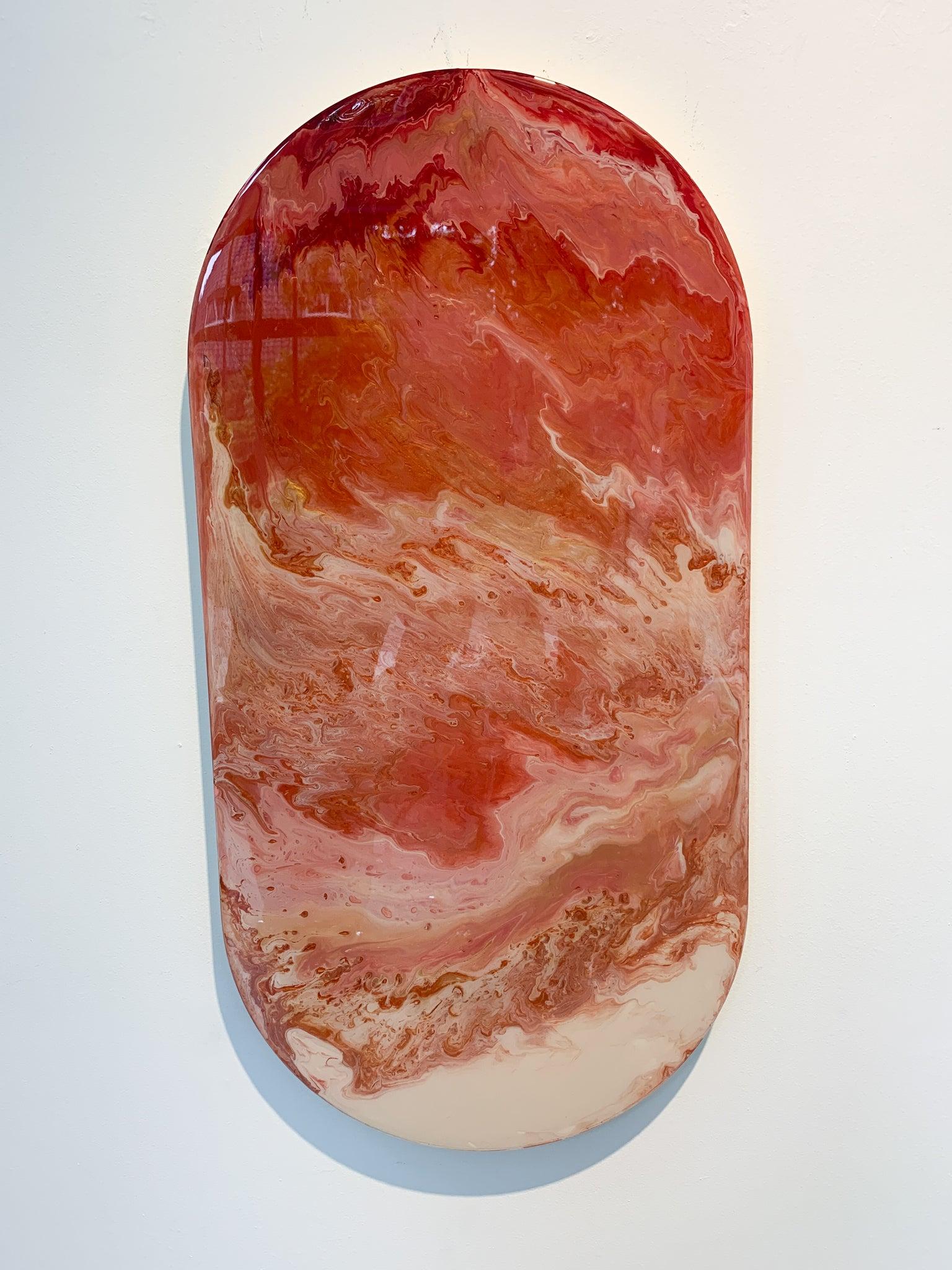 Object oval pil, epoxy by Corine van Voorbergen
