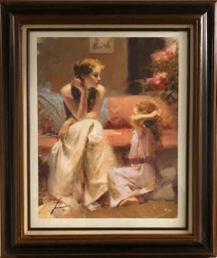 Thinking of You-Framed Limited Edition Giclee on Paper, Signed by Artist