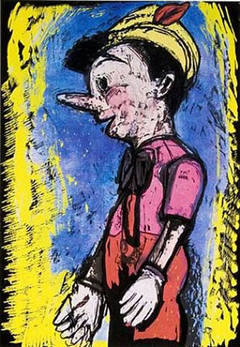 Jim Dine, Pinocchio, 2008, (94/118) seven color screenprint and wood cut