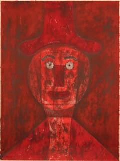 Cabeza desnuda mujer roja