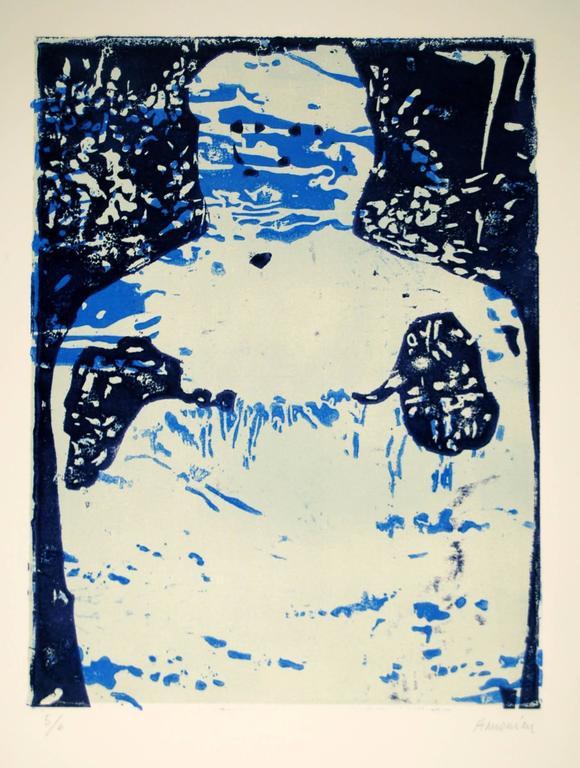 """Serie """"Eye(s)"""" bleu - Print by Manuel Amorim"""