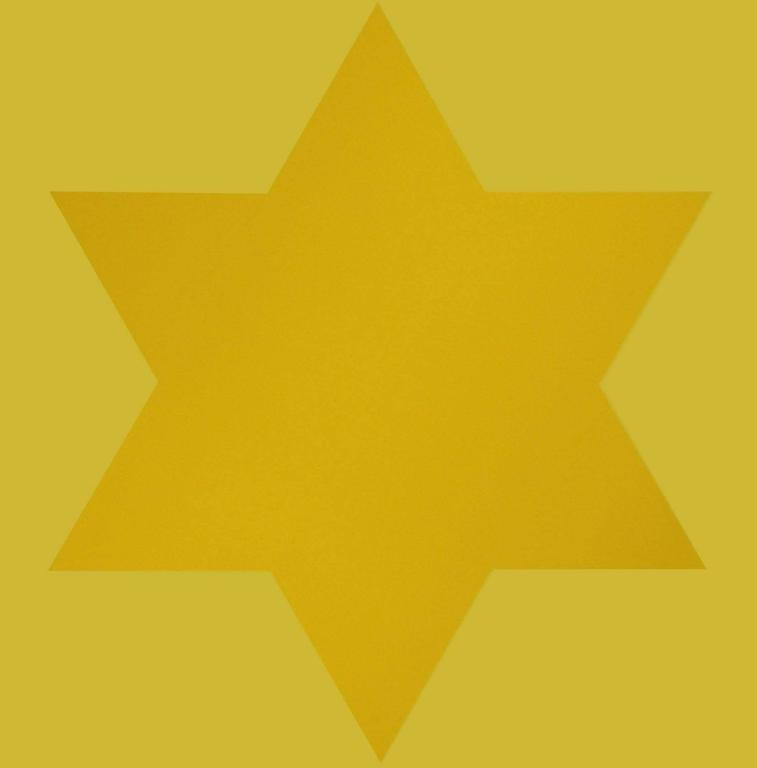 Yellow Star - Print by Olivier Mosset