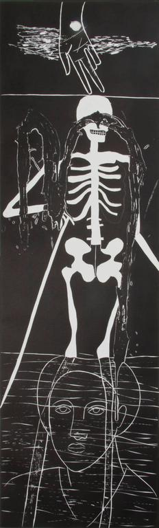 Atlantico VI (Skeleton), - Print by Mimmo Paladino