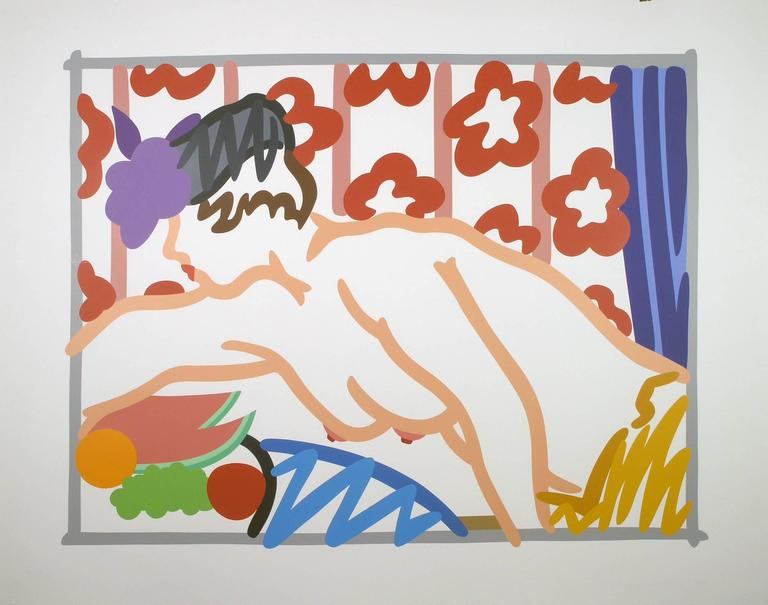Tom Wesselmann Print - Judy Reaching Over the Table