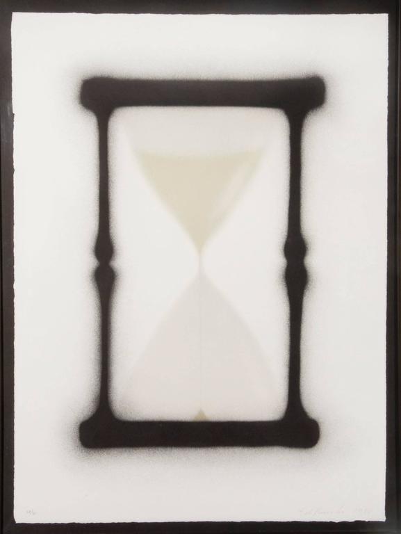 """Ed Ruscha - Reloj de arena, from the portfolio """"In Barcelona"""" 1"""