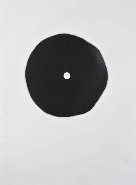 Donald Sultan - Black Flower 1