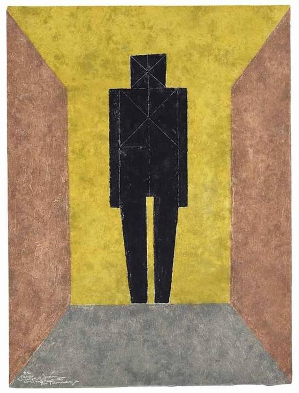 Figura En Negro - Print by Rufino Tamayo