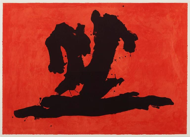 Robert Motherwell Print - Wave