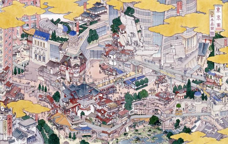 Tokei (Tokyo): Roppongi Hills - Print by Yamaguchi Akira