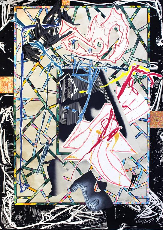 Frank Stella Abstract Print - Counterpane, from Waves I
