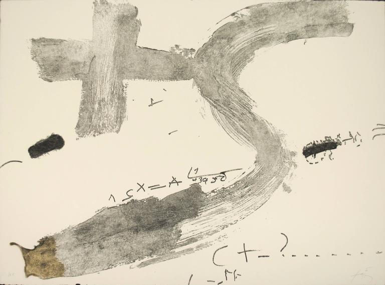 Antoni Tàpies Print - Creu i S