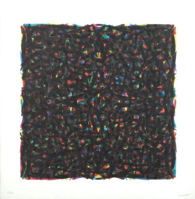 Sol LeWitt Print -  Brushstrokes in All Directions