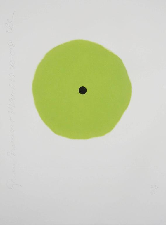 Donald Sultan, Green Trumpet, 2008, (4/50) aquatint, (Green and Black) - Print by Donald Sultan