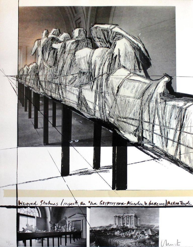 Christo Wrapped Statues, the Glyptothek, Munich, 1988, (247/300) serigraph