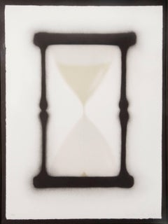 Ed Ruscha, Reloj de Arena, 9/10, 1988, Lithograph, (Black, White, and Tan)