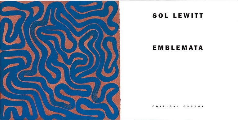 Emblemata is a 2000 book of 15 monotypes by Sol Lewitt. Emblemata is part of a larger exposition of works by artists such as Sol LeWitt, Richard Long and Hans Ulrich. Emblemata is from an addition of 20 plus artist and printers proofs. Emblemata is