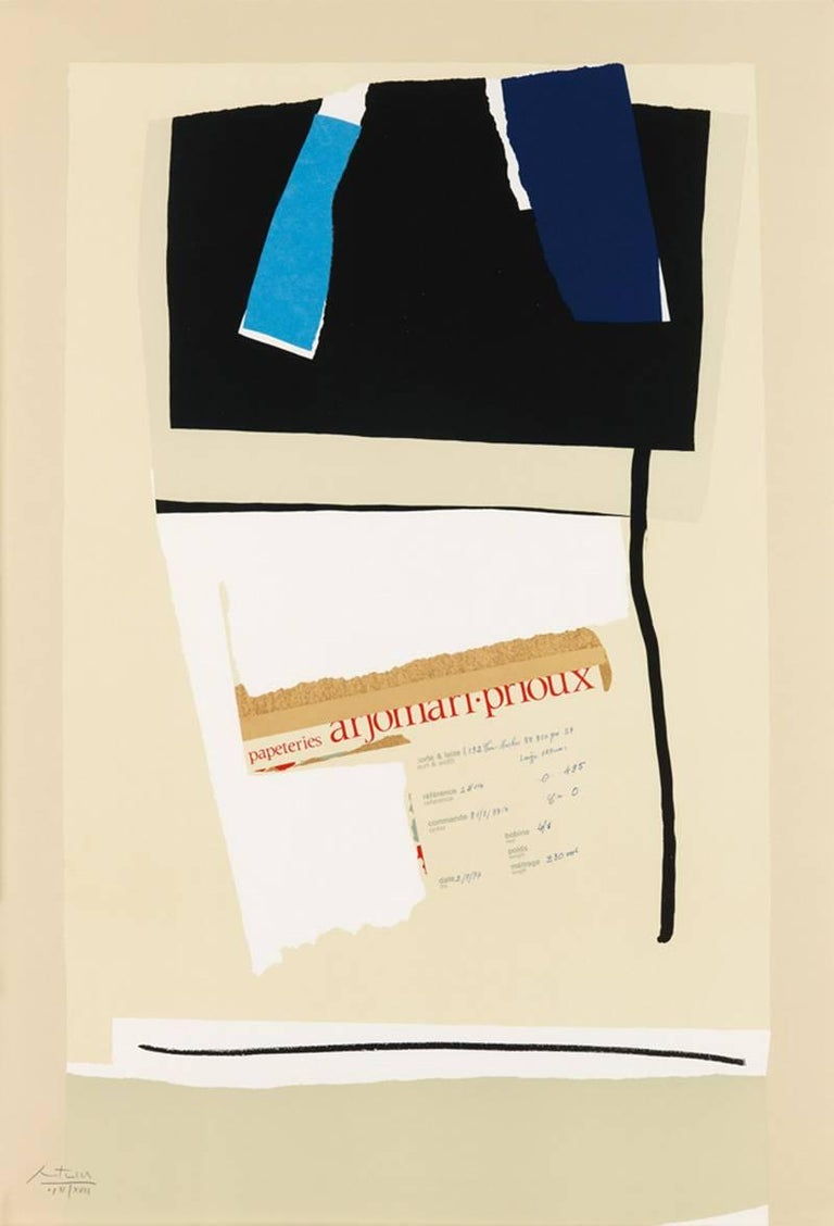 Robert Motherwell, America - La France Variations VI AP, 1983-4, Lithograph - Print by Robert Motherwell