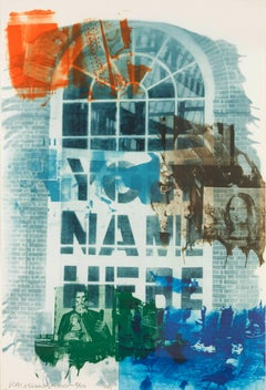 Robert Rauschenberg, Banco, from Ground Rules, 1996, Intaglio, Blue, Green