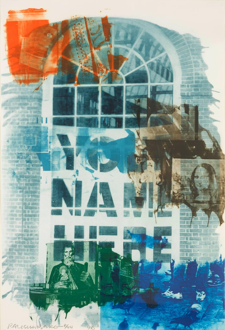 Robert Rauschenberg, Banco, from Ground Rules, 1996, Intaglio,  - Print by Robert Rauschenberg