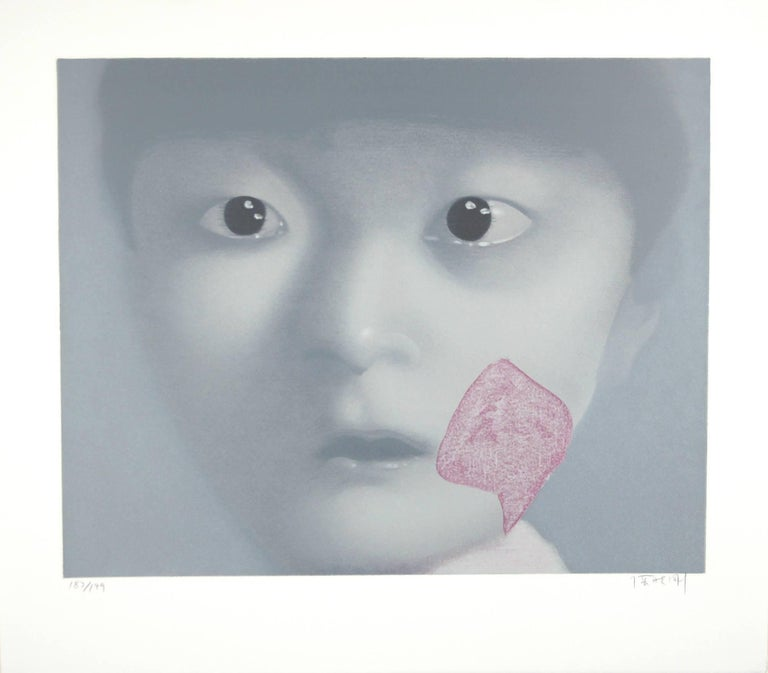 Zhang Xiaogang, My Daughter, 2002, (123/199) lithograph  - Print by Zhang Xiaogang