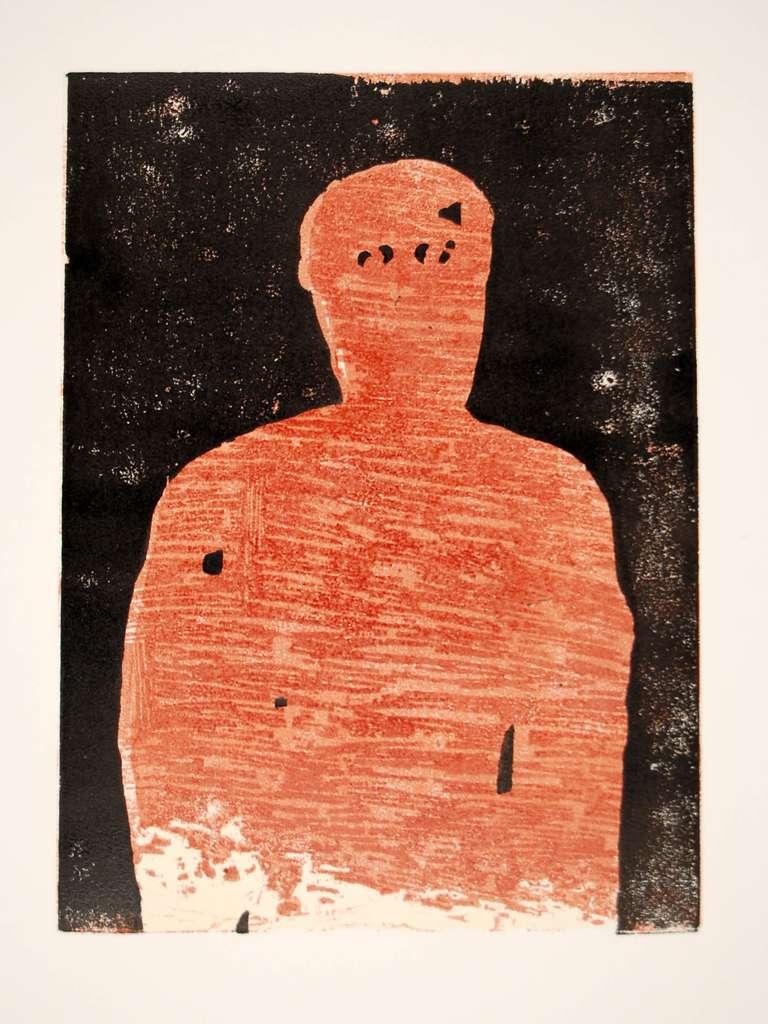 Manuel Amorim, Le Regard, 2007, (6/7), woodcut