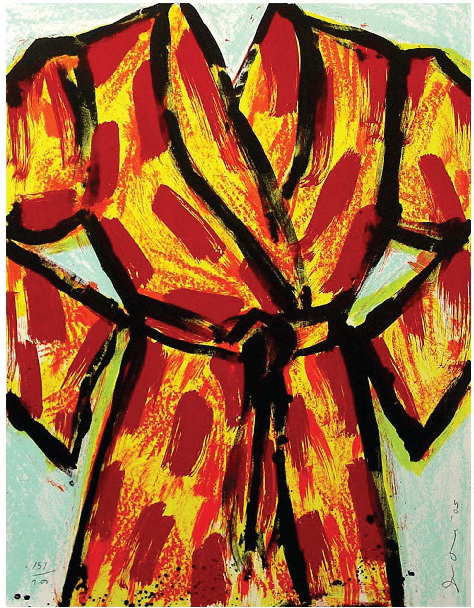 Jim Dine - Black Ink Robe, edition 52/200 1