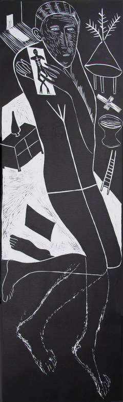 Atlantico II ( Figure Kneeling with Ladder & Chest of Drawers), 10/27, 1987