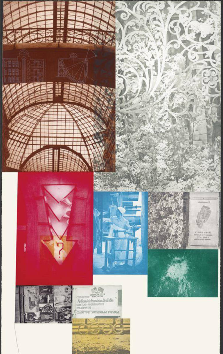 Robert Rauschenberg Print - Soviet / American Array II