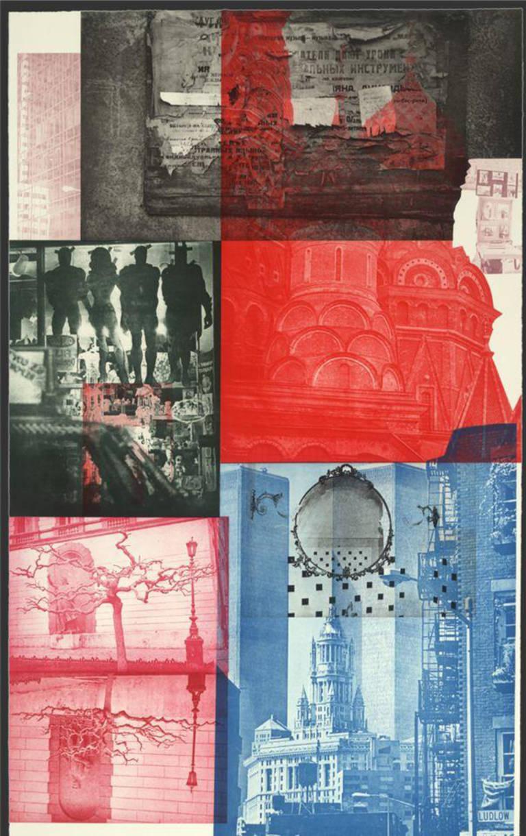 Robert Rauschenberg Print - Soviet/ American Array V, ed. 18/55