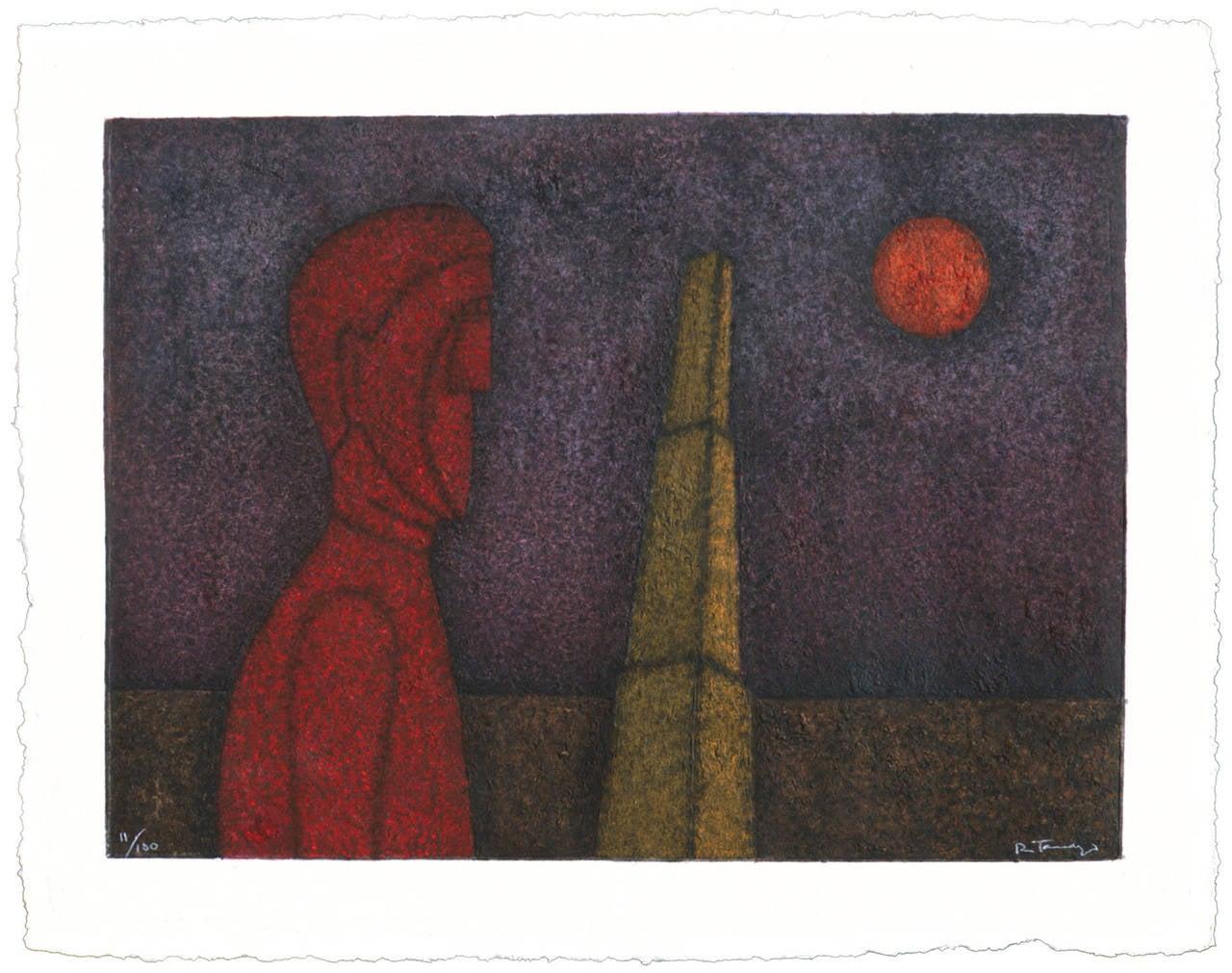 Rufino Tamayo - Figura En Rojo 1