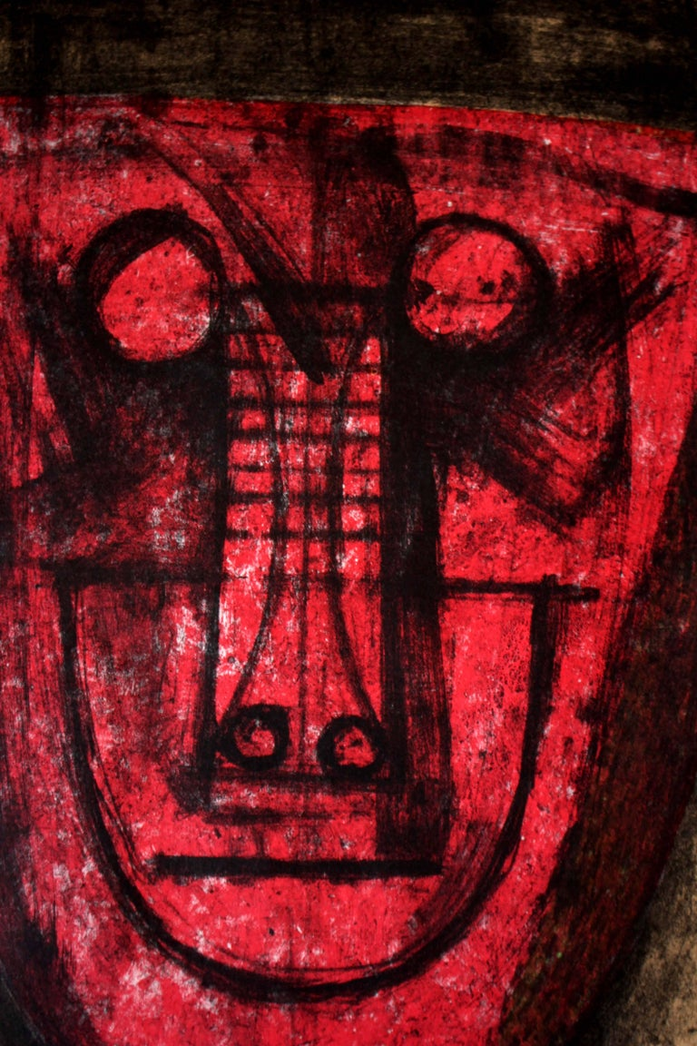 Rufino Tamayo Untitled (Red Face) 1973, (9/100) lithograph Mixograph 27.25 x 19.25 in   Rufino Tamayo was a Mexican painter and printmaker known for his large-scale murals and vivid use of color. Like Diego Rivera, David Alfaro Siqueiros, and Jose