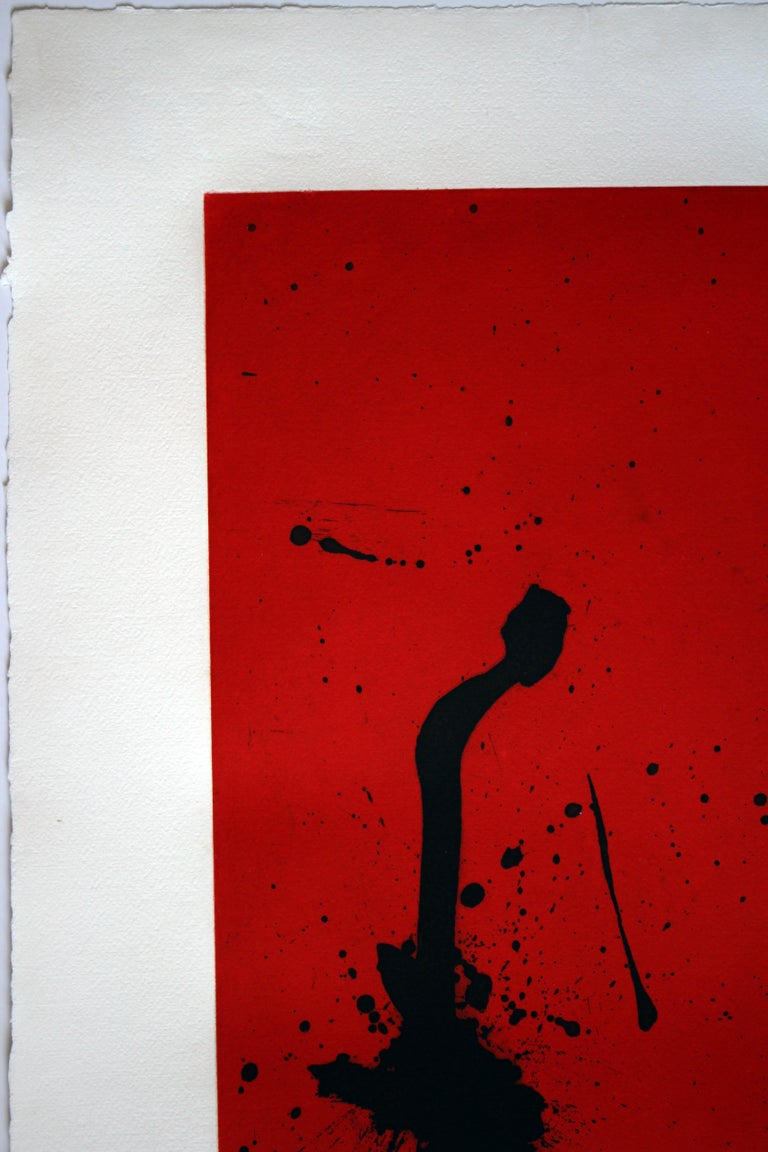 Red Sea III - Abstract Print by Robert Motherwell