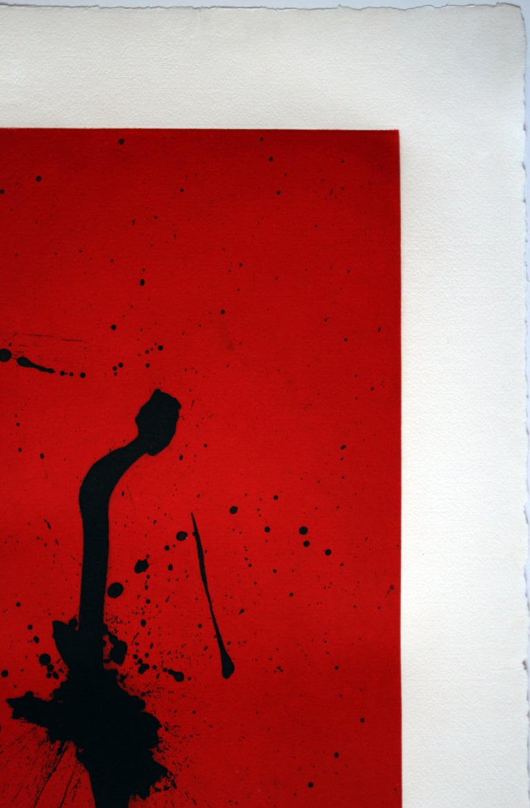 Red Sea III is a 1983 aquatint and etching by Robert Motherwell. Red Sea is III is from an edition of 70 plus artist and printers proofs. Red Sea III is signed by Motherwell.