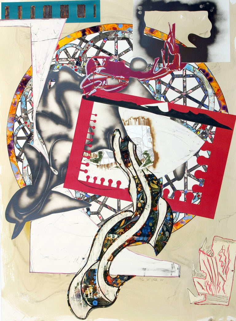Frank Stella The Pacific, 1988 serigraph, lithograph, linocut, hand coloring