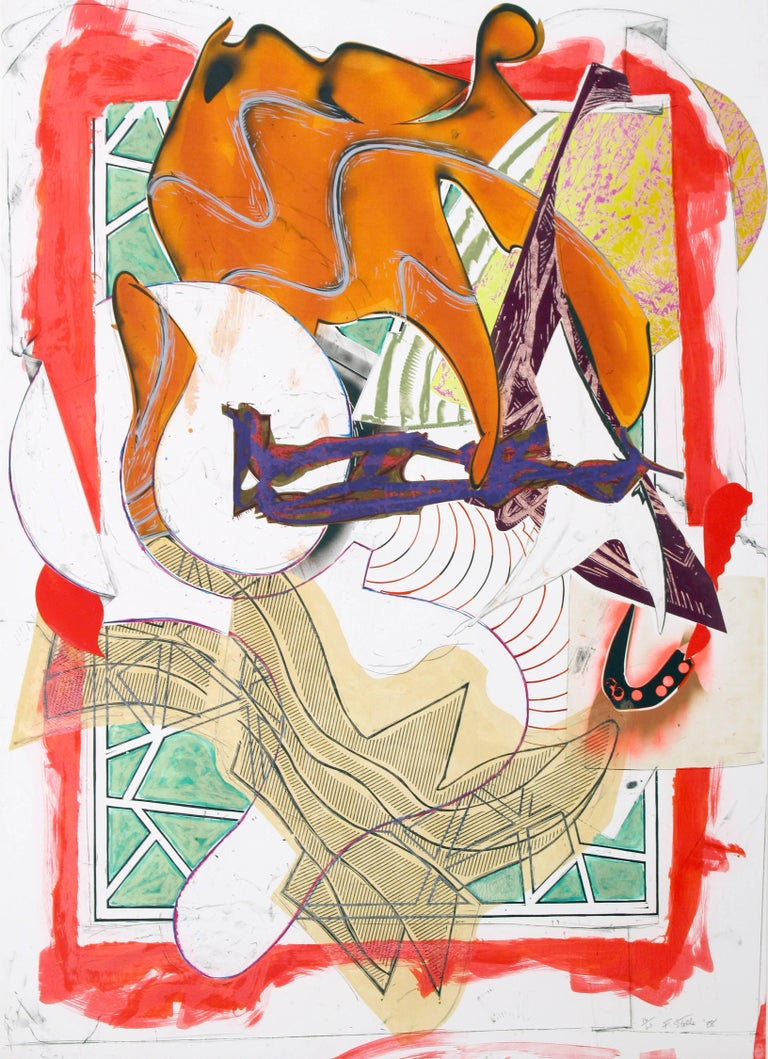 Frank Stella, Hark!, 1988 silkscreen, lithography, linocut with hand-coloring,