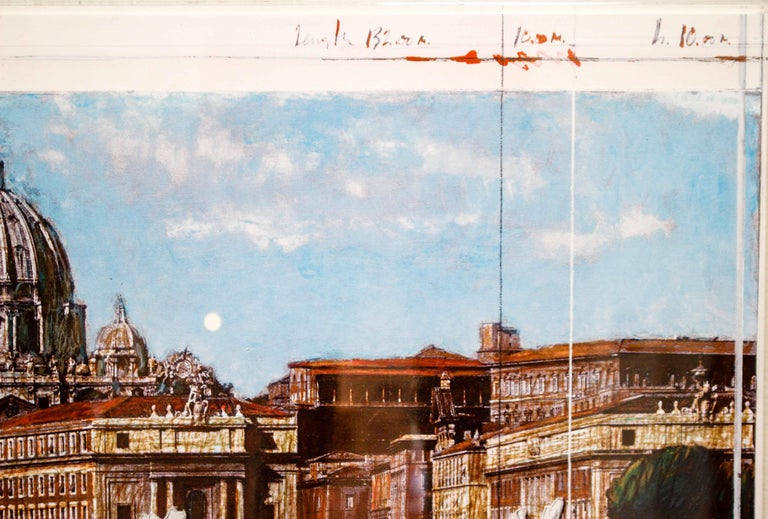 Ponte Sant'Angelo, Wrapped, Project for Rome, 2011, mixed-media  - Print by Christo and Jeanne-Claude