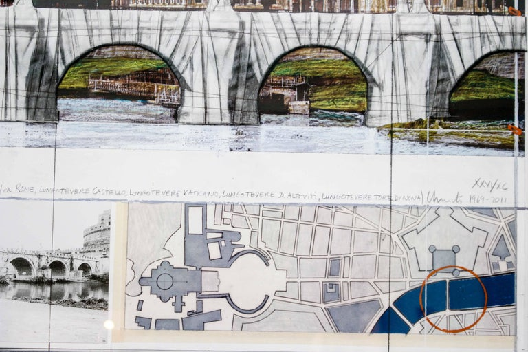 Ponte Sant'Angelo, Wrapped, Project for Rome, 2011, mixed-media  For Sale 3