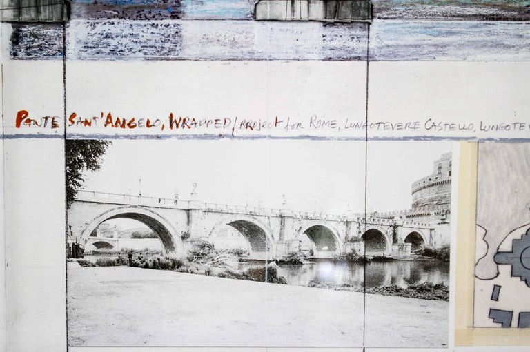 Ponte Sant'Angelo, Wrapped, Project for Rome, 2011, mixed-media  For Sale 5