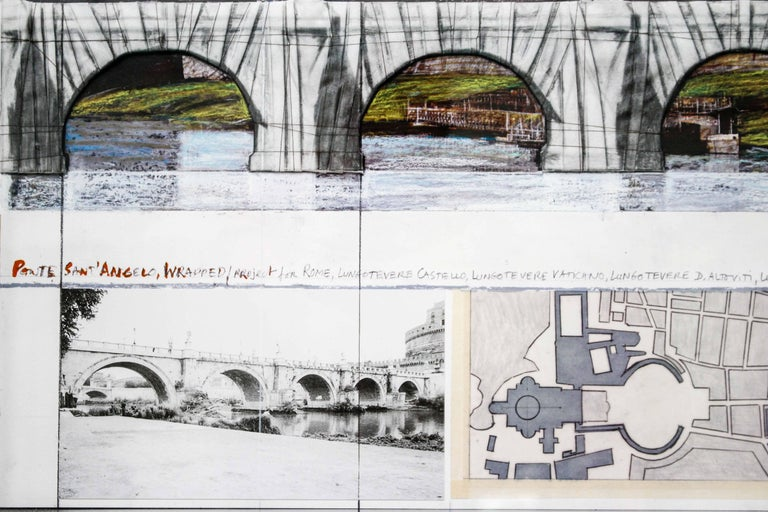 Ponte Sant'Angelo, Wrapped, Project for Rome, 2011, mixed-media  For Sale 6