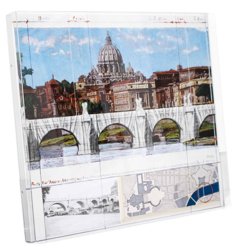 Ponte Sant'Angelo, Wrapped, Project for Rome, 2011, mixed-media  For Sale 7
